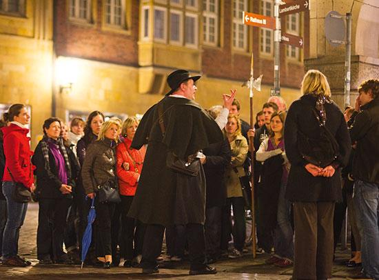 Auch für Gruppen: Der Nachtwächter Rundgang von StattReisen Münster